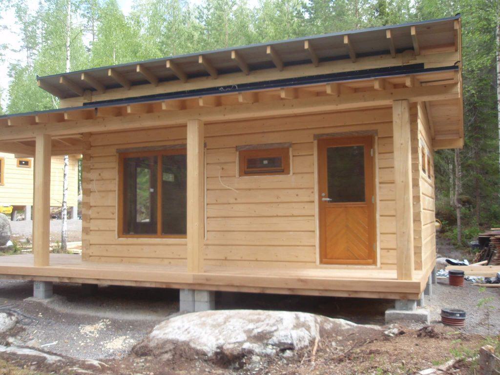 Log sauna in Finland