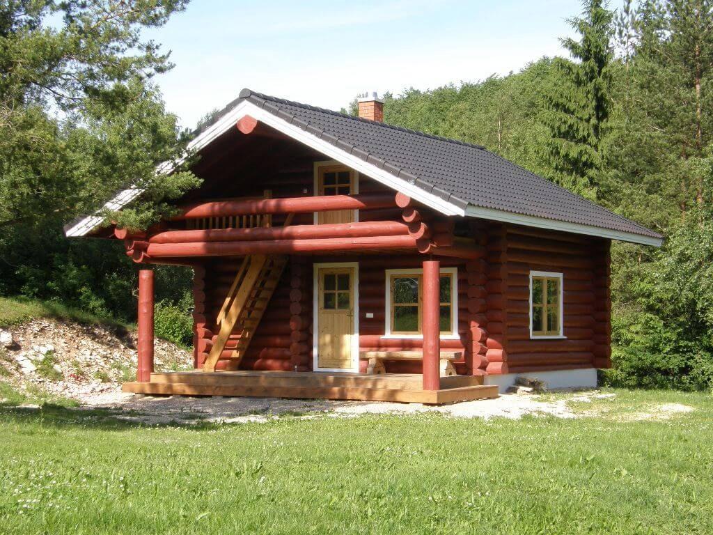 Log sauna near Tudu