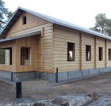 log house foundation creation