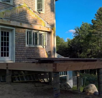 log house foundation